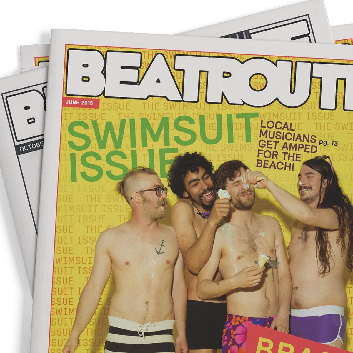 Beatroute Magazine layout design. Rachel Teresa Park, freelance graphic designer in Victoria, BC