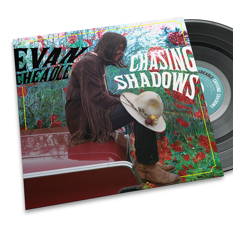 Evan Cheadle Album/LP design. Rachel Teresa Park, freelance graphic designer in Victoria, BC