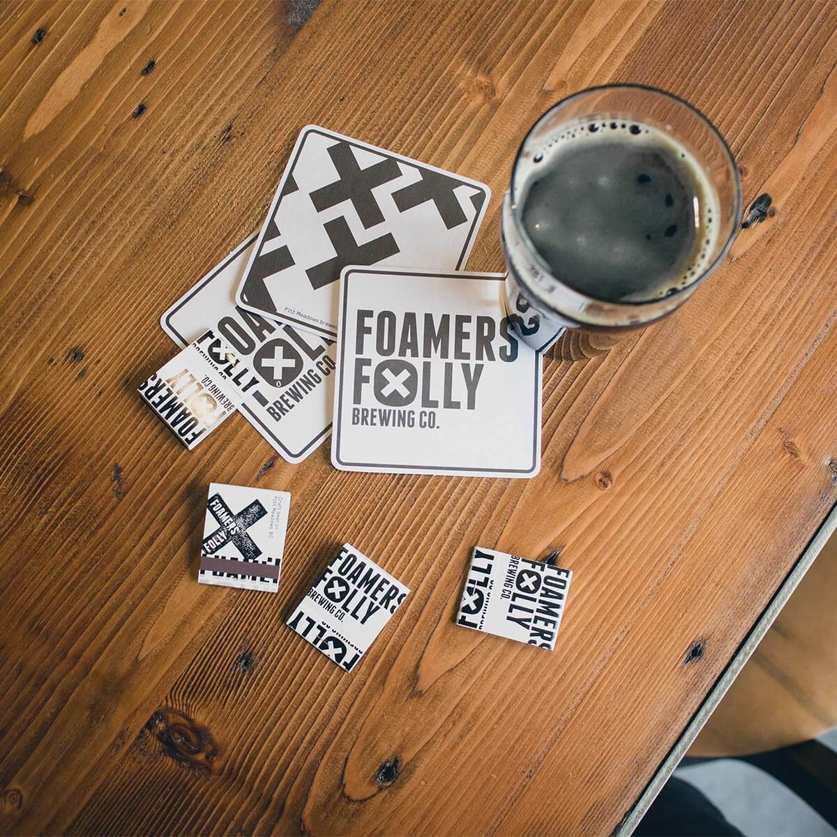 Foamers' Folly Brewing Co. branding. Rachel Teresa Park, freelance graphic designer in Victoria, BC