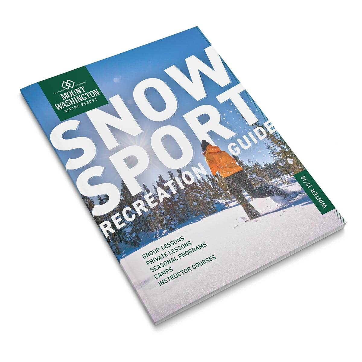 Mount Washington Recreation Guide. Rachel Teresa Park, freelance graphic designer in Victoria, BC